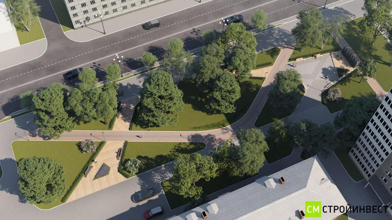 Эскизный проект сквера имени Габдуллы Тукая в г.Сахалин