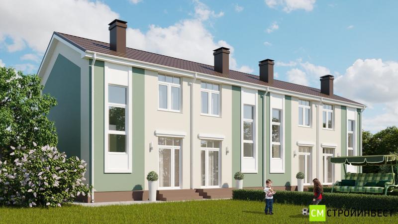 Проект 4 квартирного таунхауса