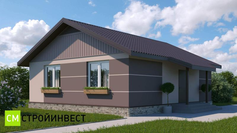 Проект арендного дома 74,5 м2