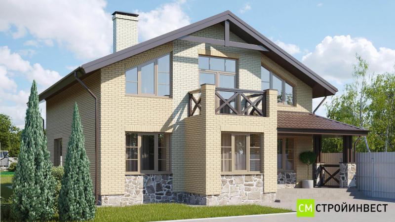 Проект кирпичного дома 153 м2
