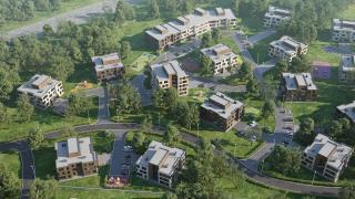 Наброски перспективного поселка в лесу