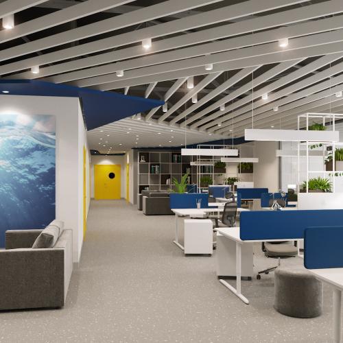 Дизайн проект офисного пространства